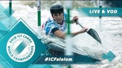 2019 ICF Canoe Slalom World Championships La Seu d'Urgell Spain / Slalom Heats Run 2 – C1w, K1m