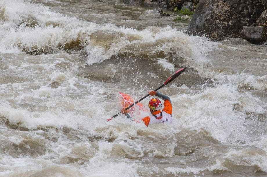Water level grows up quickly during Wildwater Canoeing World Cup Sprint races