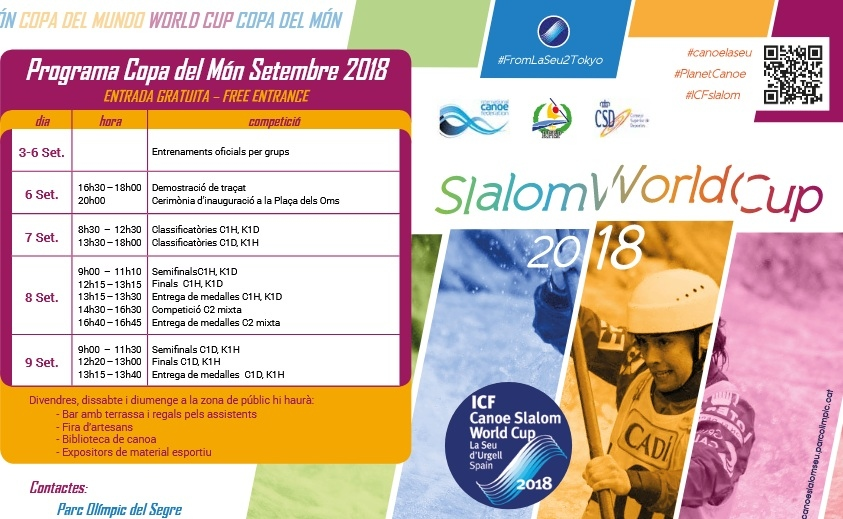 INFORMATION CANOE SLALOM WORLD CUP FINAL 2018 LA SEU